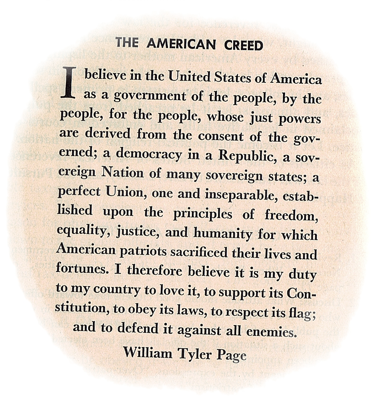 american creed What does it mean to be an american what holds us together in turbulent times  in our fractured society, the ideals, values and ethos that bind.
